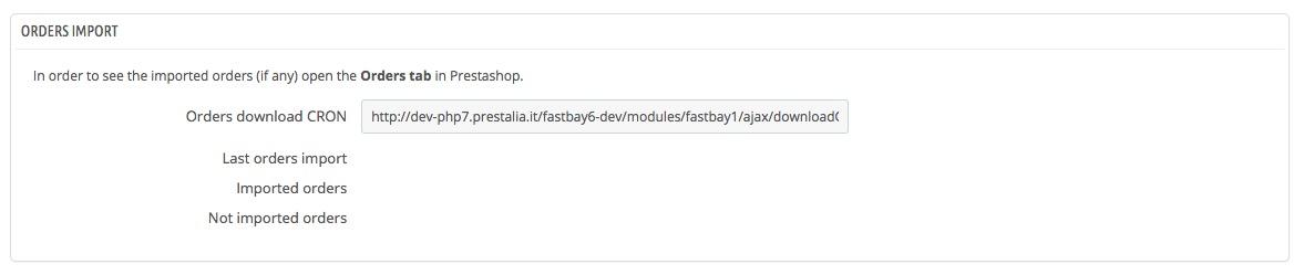 ebay Prestashop FastBay module