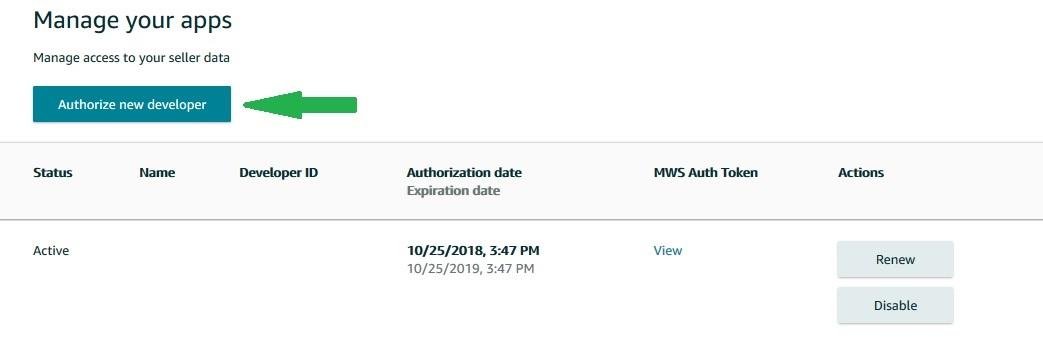 amazon module prestashop authorise developer