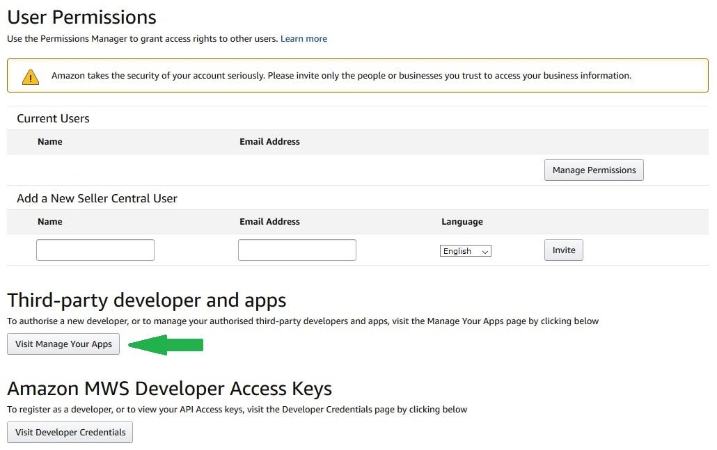 amazon module prestashop manage apps